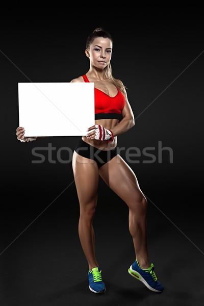 Jovem feminino fitness escuro Foto stock © restyler