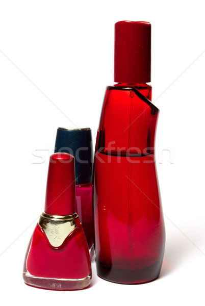 Nail polish and fragrance bottle Stock photo © restyler