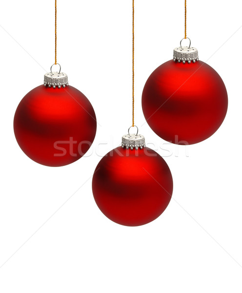 Zdjęcia stock: Christmas · trzy · kolorowy · piłka · odizolowany