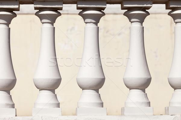 Sütun soyut beyaz sıva sütunlar iş Stok fotoğraf © restyler