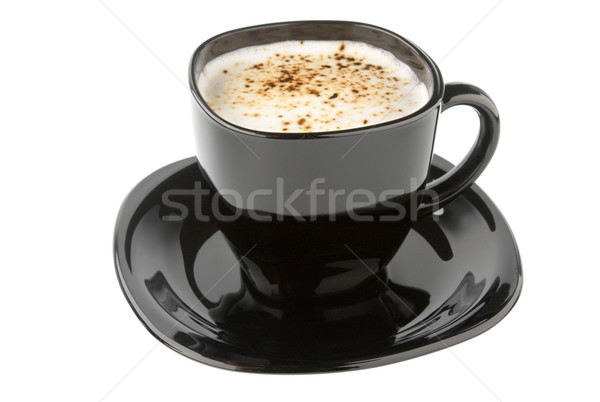 Fincan kahve siyah yalıtılmış beyaz gıda Stok fotoğraf © restyler