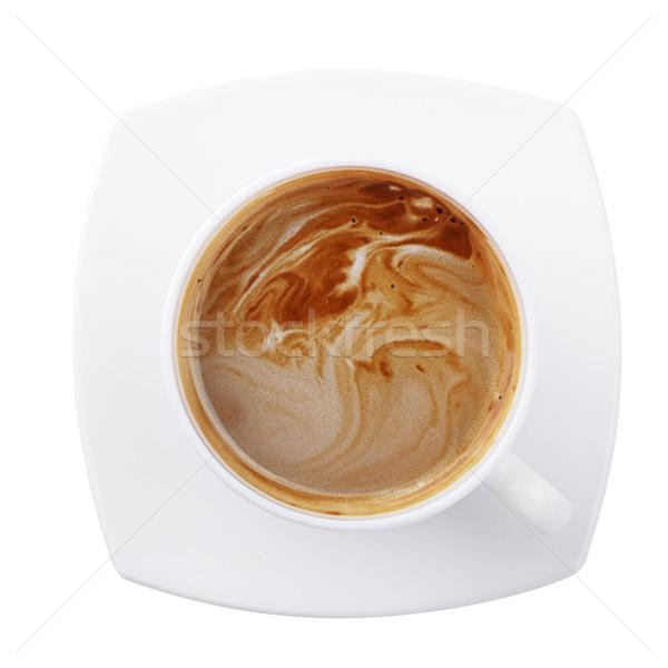 Кубок кофе белый изолированный продовольствие фон Сток-фото © restyler