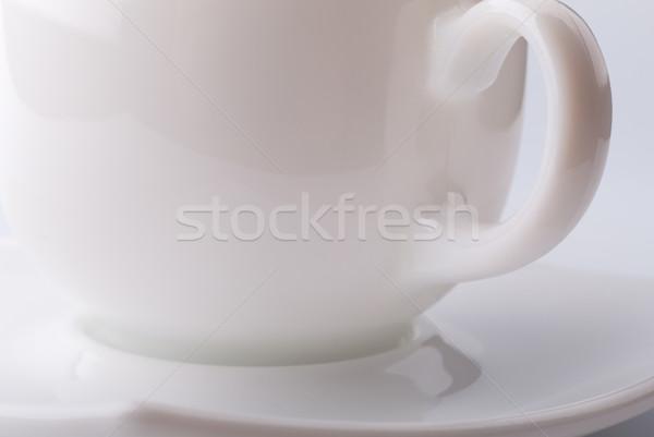 Boş kahve fincanı gri gölge mutfak içmek Stok fotoğraf © restyler