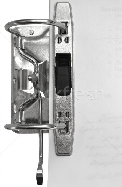 Arco palanca archivo abierto papel Foto stock © restyler