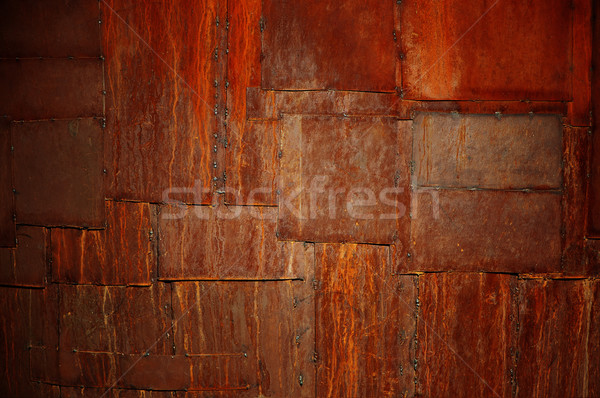 rusted patches of metal Stock photo © restyler