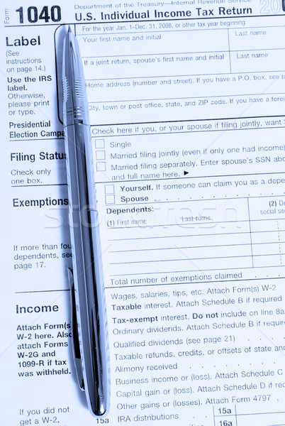 tax form Stock photo © restyler