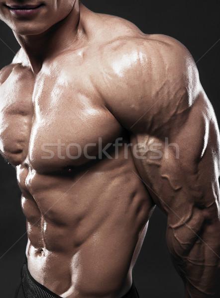 Modelo masculino bíceps musculação músculos pessoal Foto stock © restyler