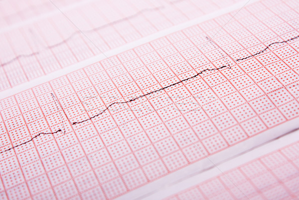 Heart rate on medical print out Stock photo © restyler