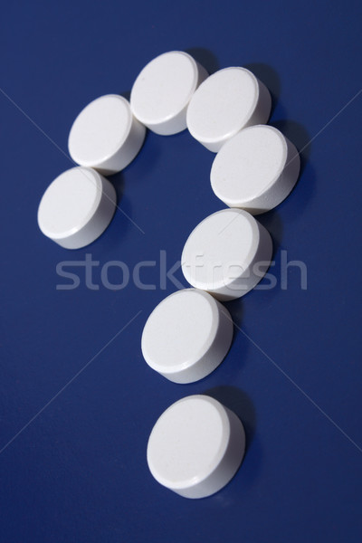Question mark of white tablets Stock photo © restyler