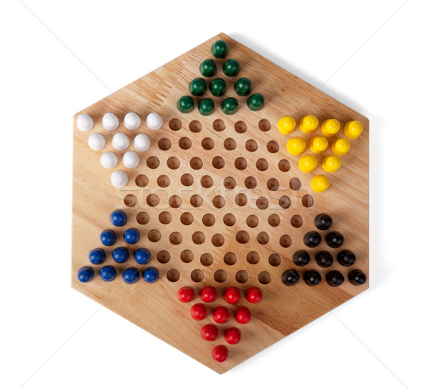 chinese checkers wooden  Stock photo © restyler