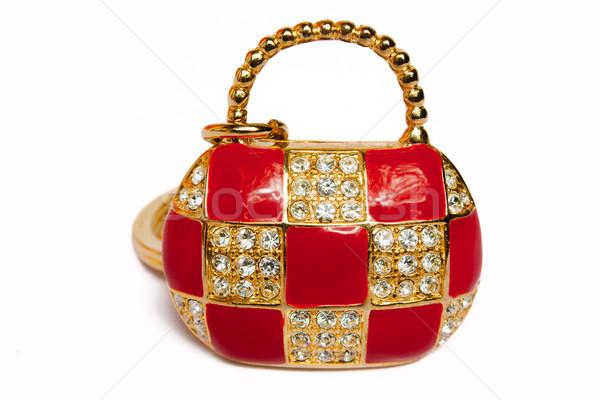 драгоценный дамы сумочка золото не настоящее Сток-фото © restyler