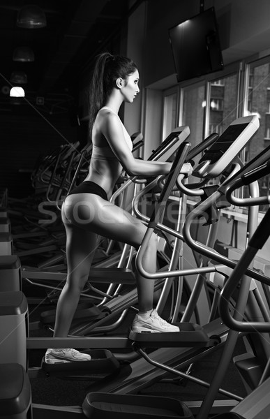 красоту девушки тренировки осуществлять велосипедов молодые Сток-фото © restyler