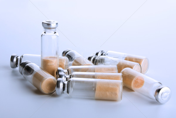 sealed test tubes with bacteria Stock photo © restyler