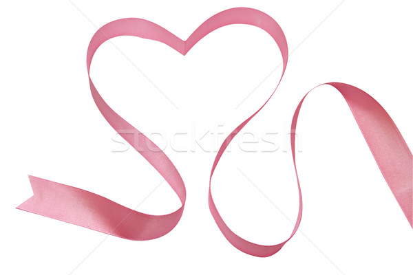 Coeur rose bande symbole amour blanche Photo stock © restyler