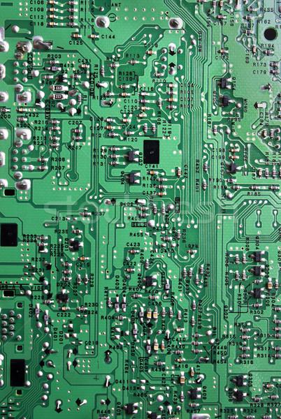 Техно зеленый полосатый электроника схеме детали Сток-фото © restyler