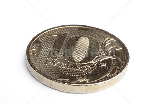Rus sikke yalıtılmış beyaz iş para Stok fotoğraf © restyler
