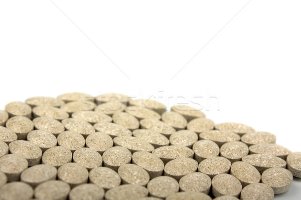 Stock photo: Heap of grassy tablets