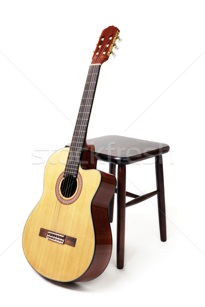 guitar and stool Stock photo © restyler