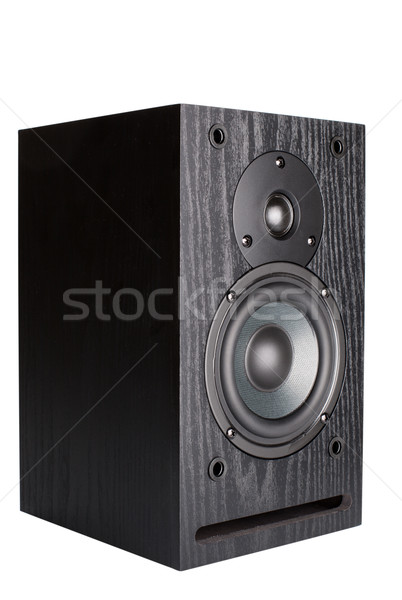 Alto-falantes passiva radiador isolado branco música Foto stock © restyler
