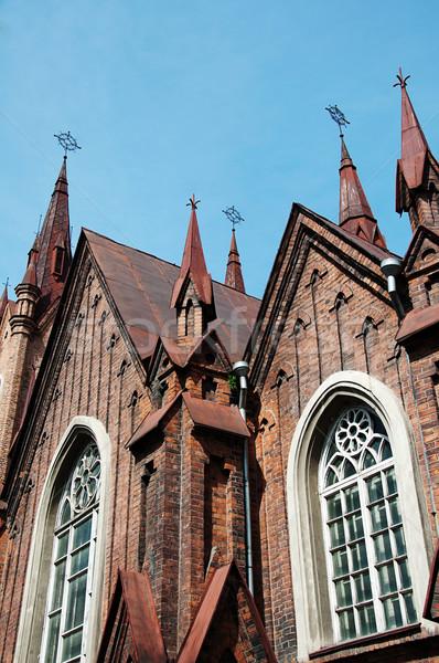 Católico iglesia rojo ladrillo edificio construcción Foto stock © restyler