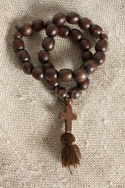 крест грубо ткань монах аннотация Сток-фото © restyler