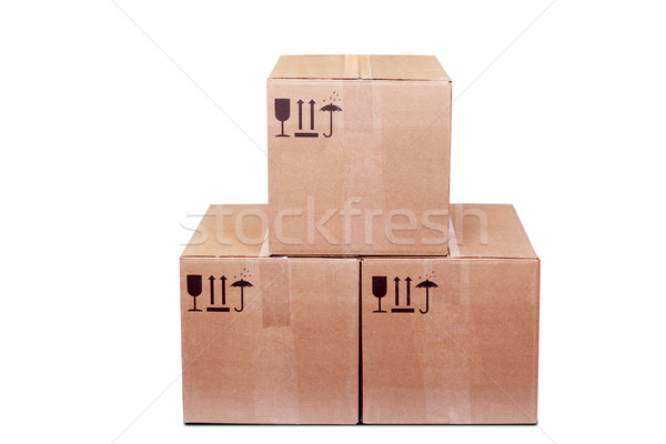 Carboard Boxes Stock photo © restyler