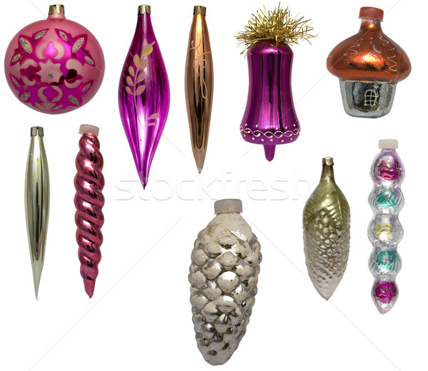 Set of christmas-tree decorations Stock photo © restyler