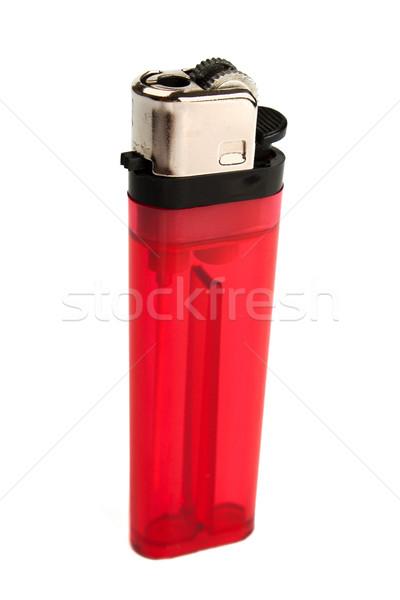 Isqueiro vermelho isolado branco luz estúdio Foto stock © restyler