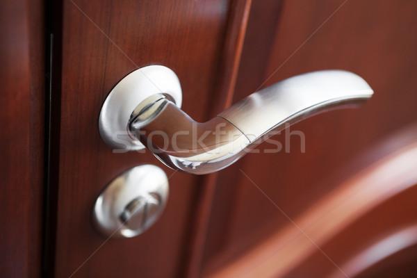 Metal drzwi uchwyt brązowy biuro Zdjęcia stock © restyler