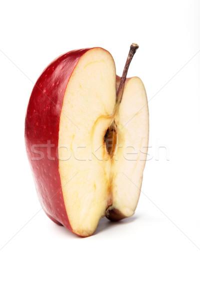 赤いリンゴ 白 影 背景 果物 ストックフォト © restyler