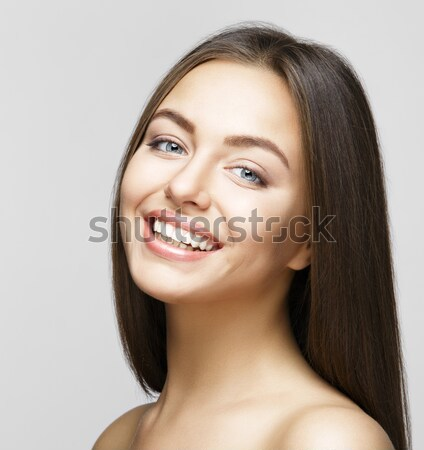 Woman smile. Teeth whitening. Dental care. Stock photo © restyler