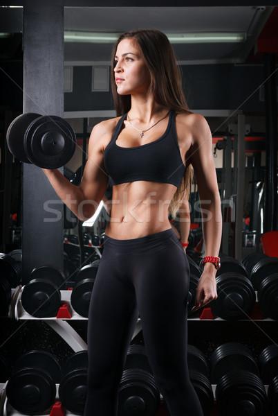 Kız kadın atlet spor salonu Stok fotoğraf © restyler