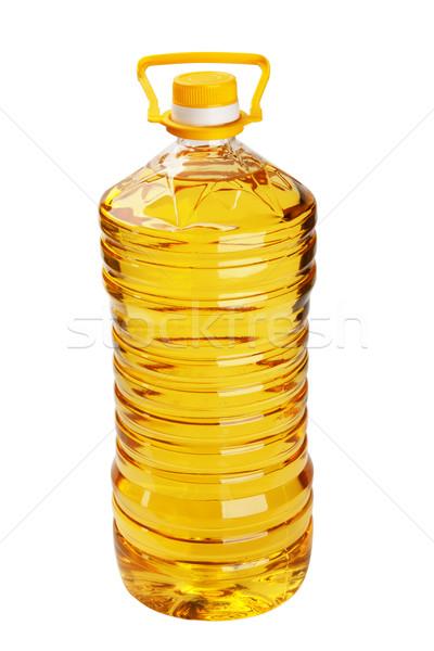 üveg napraforgóolaj fehér étel nap napraforgó Stock fotó © restyler