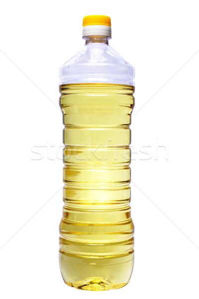 Garrafa óleo de girassol branco comida sol girassol Foto stock © restyler