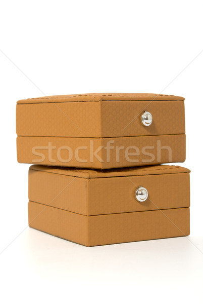 two brown boxes for jewelry Stock photo © restyler