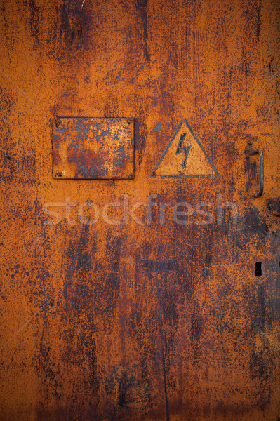 Old rusty metal door  Stock photo © restyler