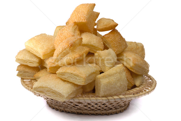 Puff cookies in a wum basket Stock photo © restyler