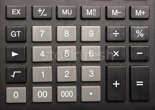 Klavye hesap makinesi anahtar üç sıfır iş Stok fotoğraf © restyler