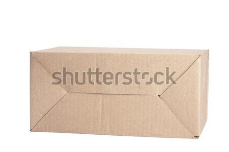 Stock foto: Karton · geschlossen · isoliert · weiß · Büro · Mail