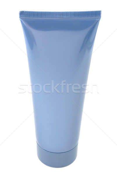 Donkere Blauw buis dekken witte geïsoleerd Stockfoto © restyler