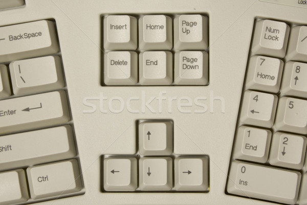 part of ergonomic computer keyboard Stock photo © restyler