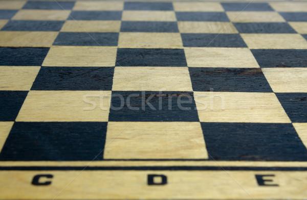 Satranç tahtası ahşap eski satranç tahtası spor Stok fotoğraf © restyler