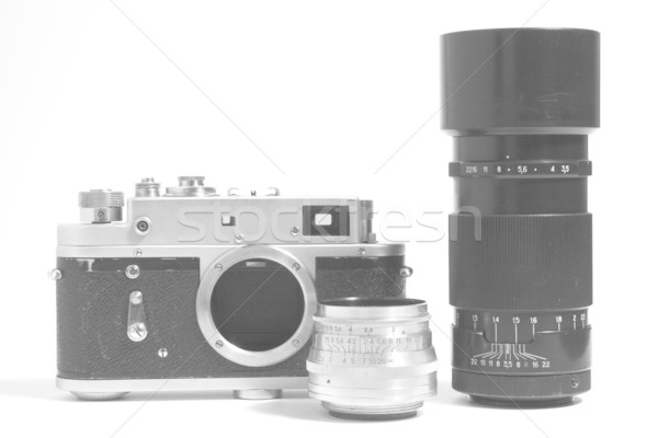 Old Camera and Objective Stock photo © restyler