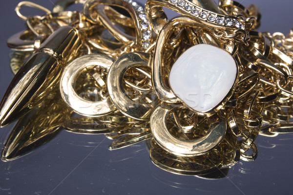 Heap Gold Schmuck Metall Kette defekt Stock foto © restyler