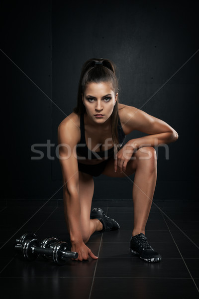 athletic woman Stock photo © restyler
