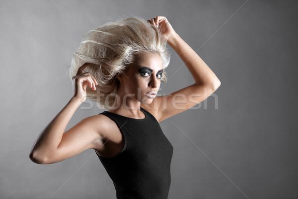 женщину футуристический прическа мода стиль моде Сток-фото © restyler