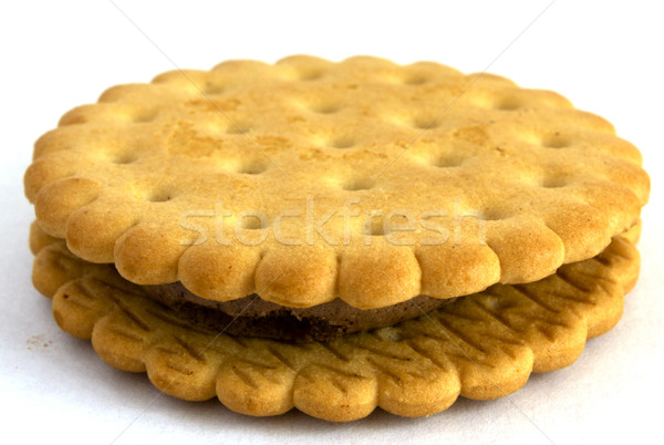 Cookies strato dado sfondo oro grasso Foto d'archivio © restyler