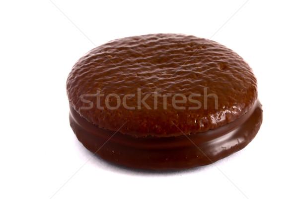 Kurabiye çikolata arka plan altın yağ beyaz Stok fotoğraf © restyler