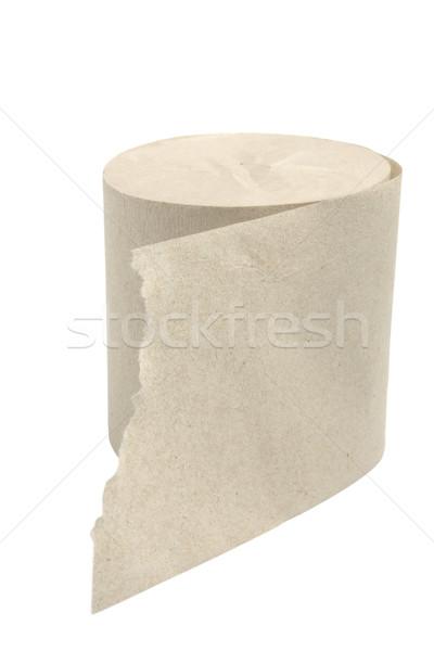 Carta igienica rotolare isolato bianco percorso bagno Foto d'archivio © restyler