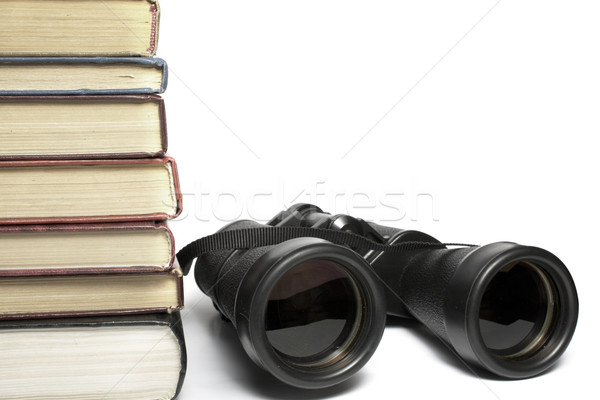 field-glass and heap of books Stock photo © restyler